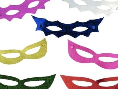 DIY Decoração de Festa para o Carnaval #01 Decoração Com Máscara de Papel Luminária