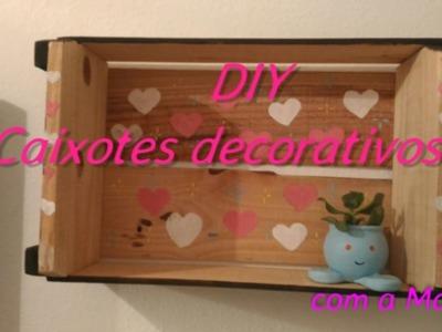 DIY - Decorando banheiro com Caixote
