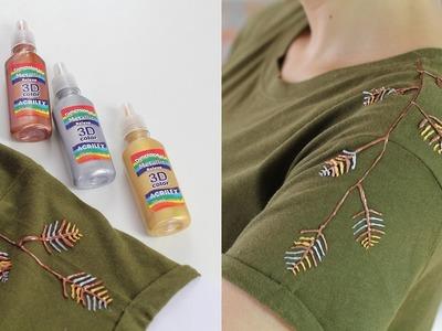 DIY: detalhe no ombro da camiseta