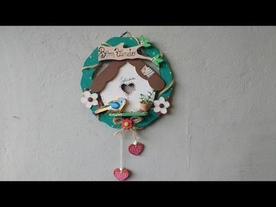 DIY-Guirlanda casinha de passarinho-Bem Vindo!