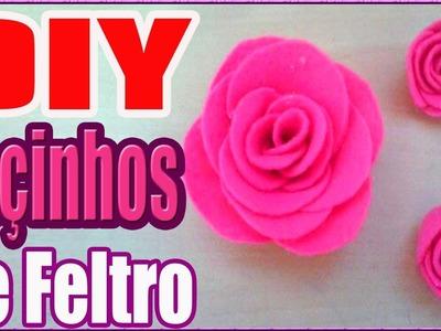 DIY Lacinho para femeas de feltro rosinhas