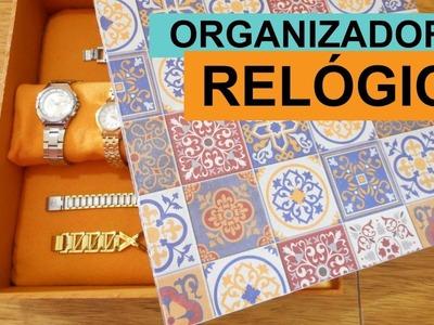 DIY ORGANIZADOR DE RELÓGIOS - TIMELAPSE | Customizando - Mariely Del Rey