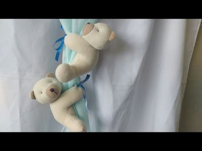 DIY- Prendedor de cortina - ursinhos
