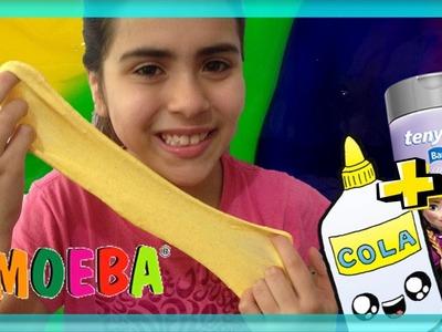DIY: AMOEBA com COLA BRANCA e TALCO DE PÉ como fazer! (DIY SLIME, Geleca, meleca, massinha, gosma)