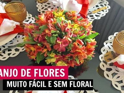 DIY - ARRANJO DE FLORES FÁCIL | #ClubeDaCasa