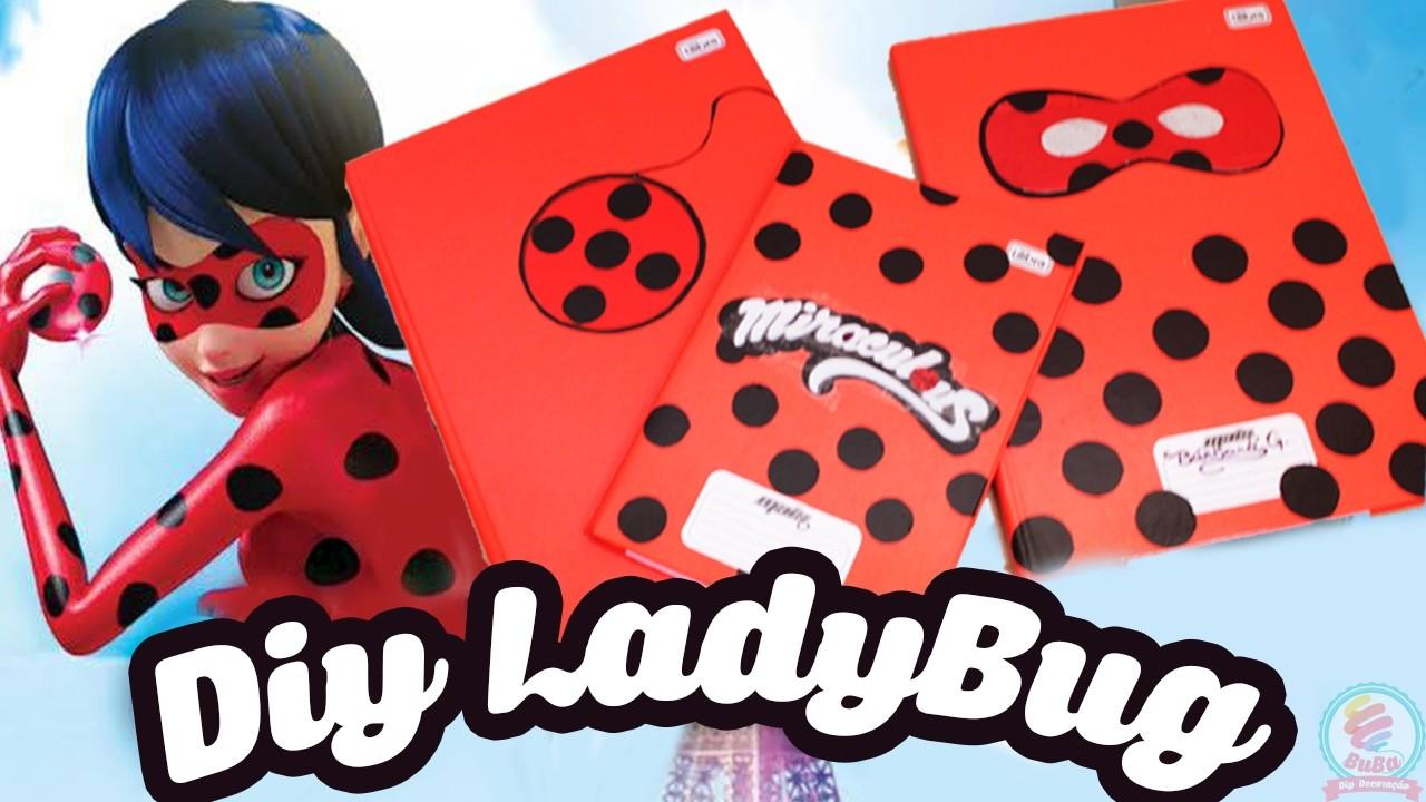 Diy Caderno da Ladybug -  Volte as aulas