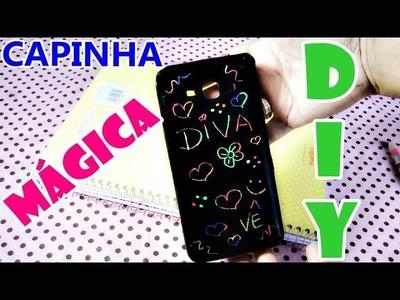 DIY: Como fazer CAPINHA MÁGICA para celular - Rápido e Fácil