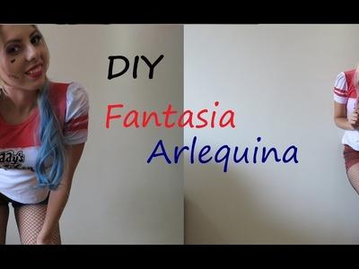 DIY: Fantasia e cabelo Arlequina Carnaval e Halloween parte 1