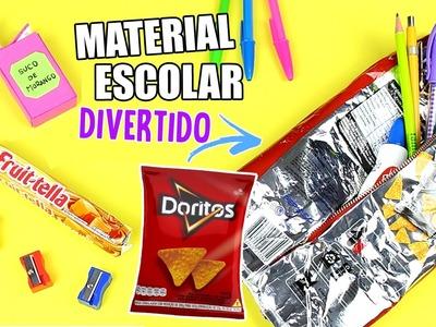 DIY: MATERIAL ESCOLAR DIVERTIDO (ESTOJO, APONTADOR E CANETA)