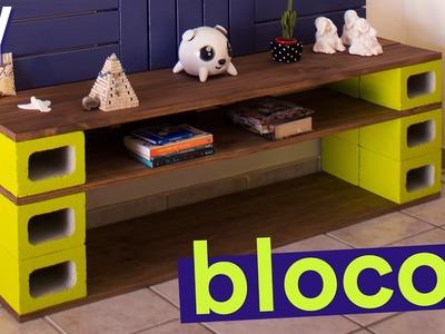DIY - RACK BLOCOS DE CONCRETO | Reforma de Kitnet