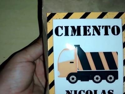 Diy: saco de cimento para festa construção