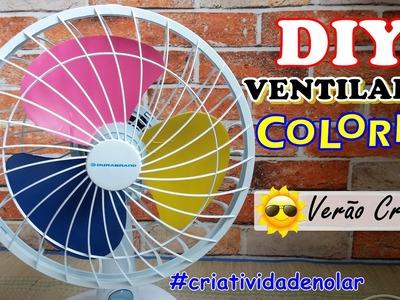 DIY Ventilador Colorido   VERÃO CRIATIVO #criatividadenolar