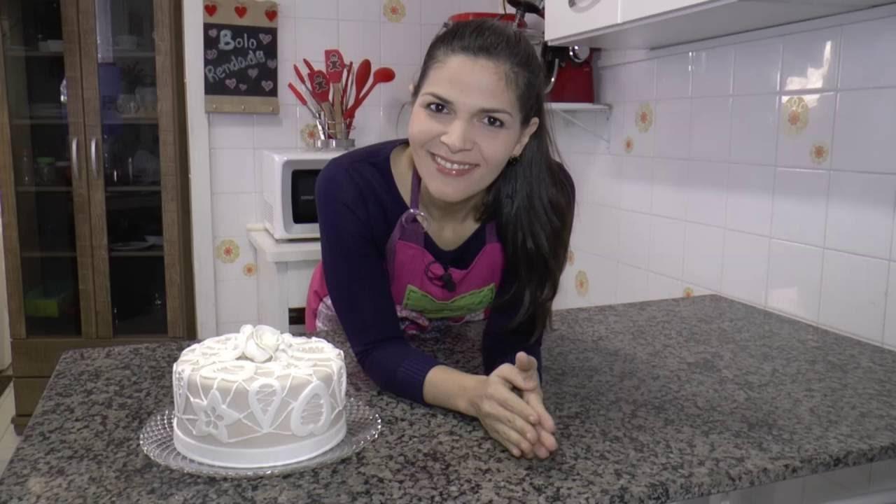 Camila Poli decora��o para bolo com rendas por camila poli