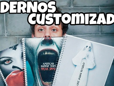 DIY: CADERNOS CUSTOMIZADOS | AMERICAN HORROR STORY & ONCE UPON  A TIME PASSO-A-PASSO