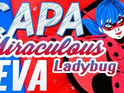 DIY | Capa de Caderno em EVA Ladybug - Miraculous