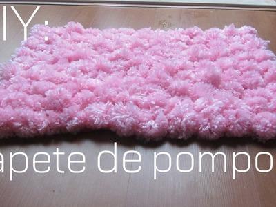 DIY:Como fazer um tapete de pompom (FÁCIL)