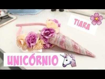 DIY| Tiara chifre de unicórnio super fácil | faça você mesmo!