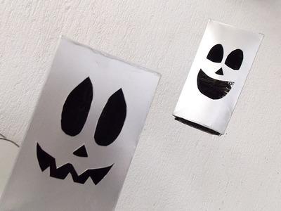 Fantasma com caixa de leite - Como fazer decoração Halloween