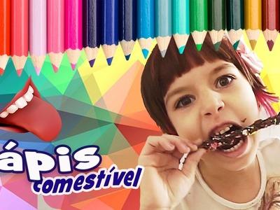 Lápis Comestível (Material Escolar, DIY, Como Fazer, Trollagem) com Sarinha