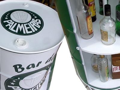 Bar de Tambor do Palmeiras  tambor para decoração usando Tambor para decorar