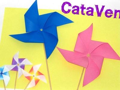 Como fazer Catavento - Decoração de Festa - Atividade Escolar