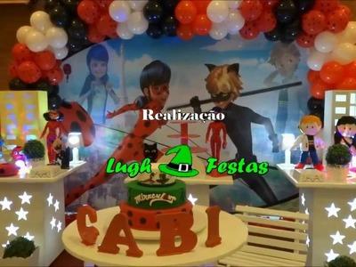 Decoração Miraculous Ladybug e Cat Noir provençal simples para festa infantil