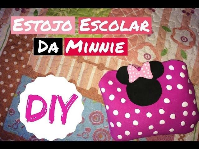 DIY : Estojo Escolar da Minnie Menos de R$ 5,00 #MinnieMouse