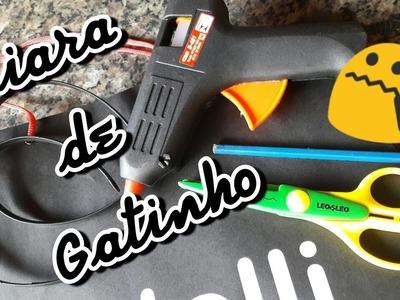 DIY Tiara de Gatinho pro Halloween