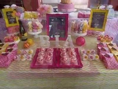 Sugestão de Decoração de Mesa para festa infantil - Dica Mi Presentes
