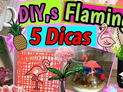 5 DIYs DECORAÇÃO Inspirada em FLAMINGOS | Room Decor