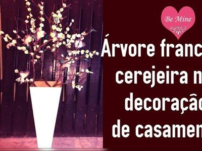 ❤ Árvore francesa cerejeira na decoração de casamento