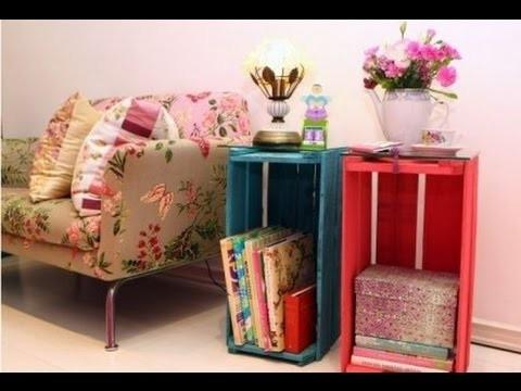 Como fazer a decoração com caixotes de madeira