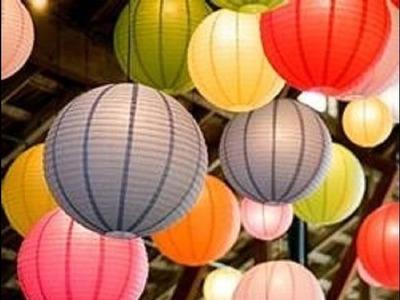 Como montar uma luminária japonesa de papel (Decoração de Festa Oriental)