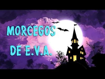 Decoração de Dia das Bruxas - morcegos em E.V.A.