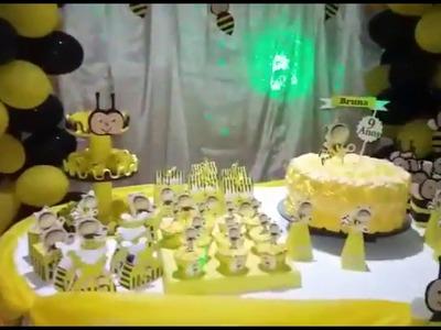Decoração de mesa de aniversário tema abelha, Ideias Decoração e Lembrancinhas Festa abelha