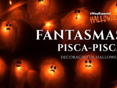 FANTASMAS PISCA PISCA | Decoração Fácil de Terror | Especial Halloween #20
