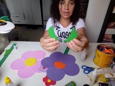 Tutorial  Faça  Você mesmo, flores de Eva para decoração infantil ????????????