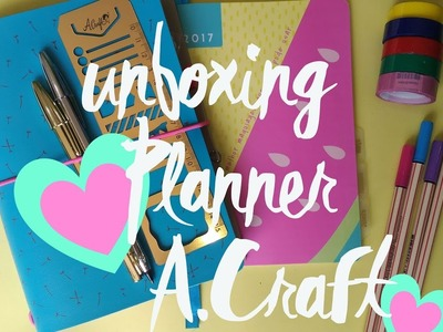 Unboxing Planner A.Craft 2017