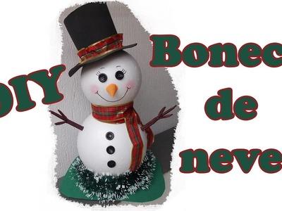 Como fazer boneco de neve grande - Decoração de Natal