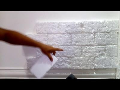 Como fazer tijolinhos de isopor p decoração de ambientes