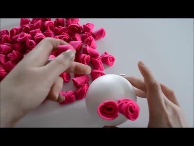 Decoração de Casamento Barato e Simples   DIY Bolas de flores