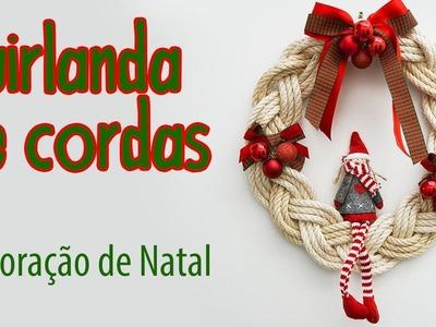 Decoração de  Natal #1, Guirlanda de Corda