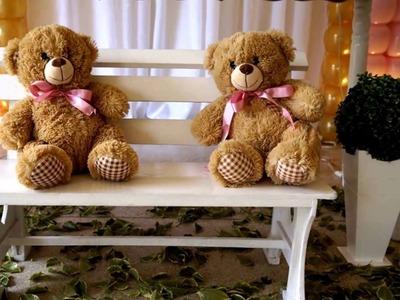 Decoração de Chá de Bebê Tema Ursas Princesas