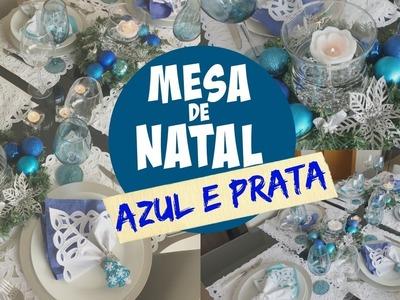 DECORAÇÃO DE MESA DE NATAL AZUL | #ClubeDaCasa