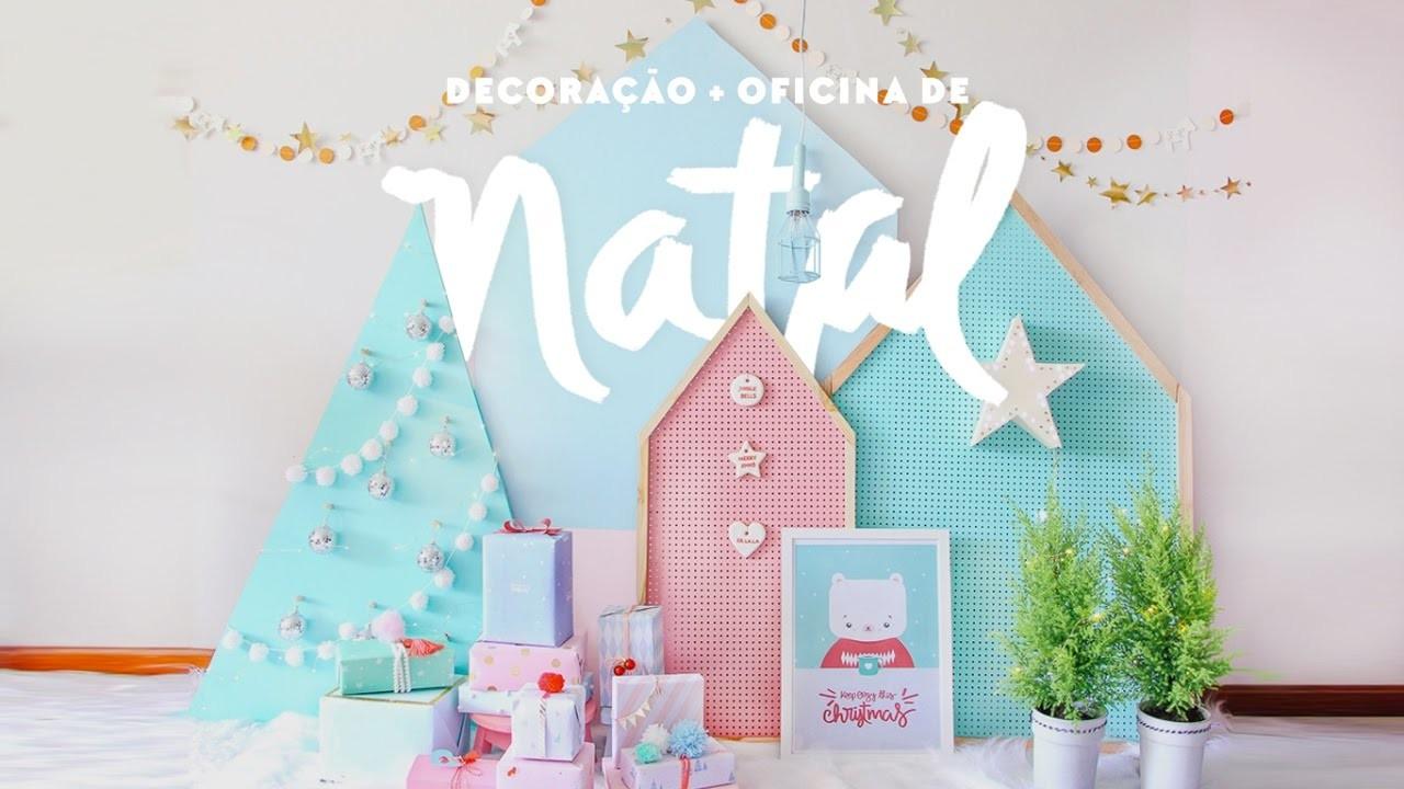 Decoração de Natal DIY+ Oficina criativa em dezembro