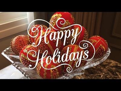 Decoração de Natal - Sala de jantar.