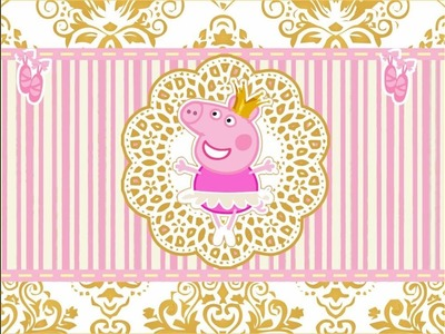 Preparativos. Part: 28 Tema: Baile Real Da Bailarina Peppa Pig. *Decoração Part: 1