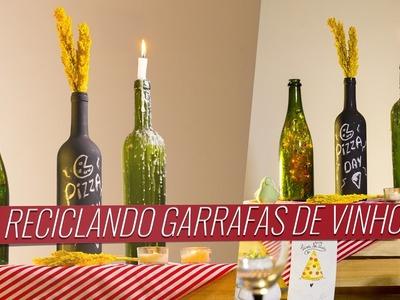 3 ideias para reaproveitar garrafas de vinho na decoração | Drops das Dez por Laína Laine