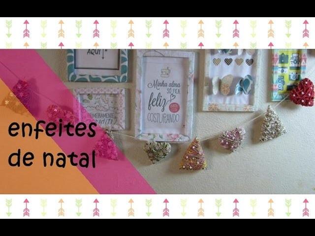 ♥decoração de natal arvore e coração de linha de croche♥