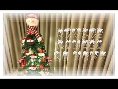 Decoração de Natal. - Árvore boneco de neve.